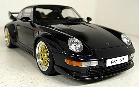 Amazon.com: Porsche 911 (993) GT, metallic-dark blue, 1995, Model Car,, GT spirit 1:18: GT spirit: Toys & Games