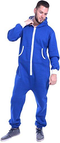 Zip Mono Colores Newfacelook blue Onesie Hoodie Hoody Mens Lisos Un Todo En 8nvndqwAx