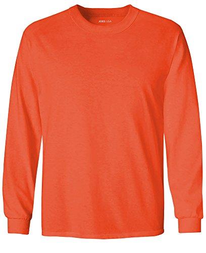 Shirt Sleeve Long Core (Joe's USA Youth Long Sleeve Core Cotton Tee Youth-S-Orange)