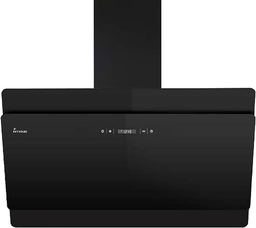Campana extractora de pared (90cm, acero inoxidable, cristal negro, 4 escalones, iluminación LED, teclas de sensor TouchSelect) SOLO906S - KKT KOLBE: Amazon.es: Hogar