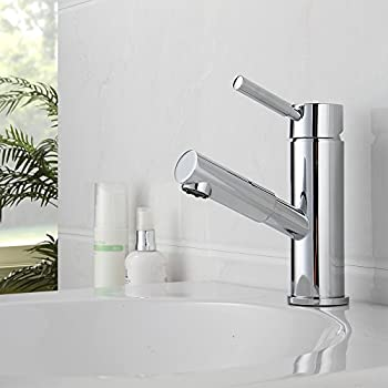 Beau Fapully Compact ContemporaryTouch On Single Handle Pull Out Sprayer Bathroom  Sink Faucet Solid Brass Vessel Sink
