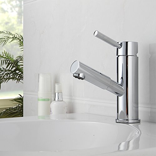 "Yescom 5-1/2"" Pull-Out Spray Kitchen Brushed Nickel Faucet Spout Sink Mixer Bathroom Basin Tub Lavatory hot sale 2017"