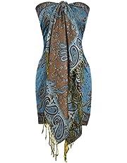 Peach Couture Women's Elegant Double Layer Paisley Pashmina shawl Wrap Scarf