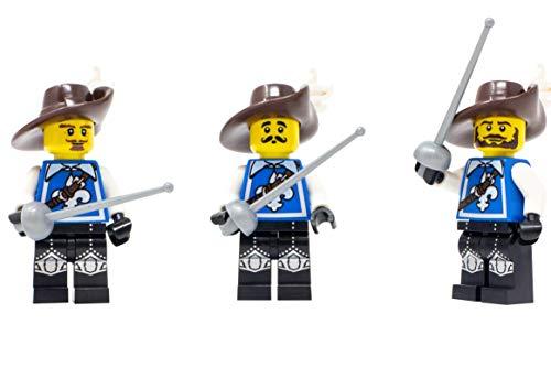 LEGO Three Musketeers - Custom 3 Musketeers (Athos, Aramis, Porthos) Minifigure (Musketeer Lego)