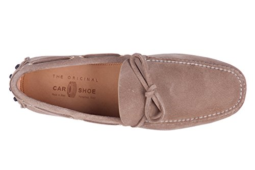 Car Shoe Wildleder Mokassins Herren Slipper beige