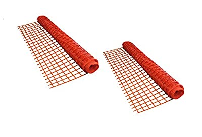 ALEKO® 2SF9045OR4X100 Multipurpose Safety Fence Barrier 4 X 100 Feet PVC Mesh Net Guard, Orange, Lot of 2