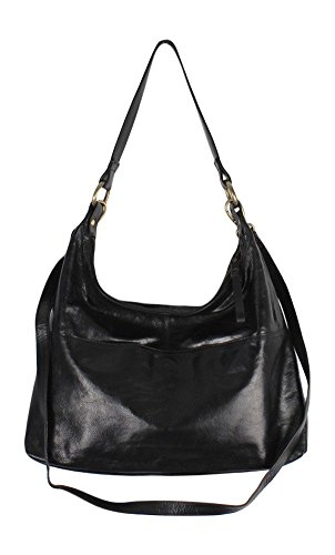 Latico Roberta Shoulder Bag,Black,One Size by Latico