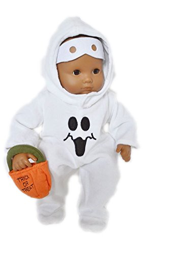 HALLOWEEN GHOST COSTUME FOR AMERICAN GIRL DOLLS BITTY BABY (Ghost Costume For Girls)