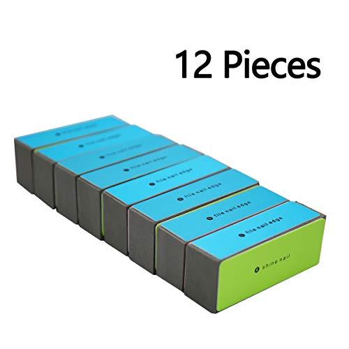 Rotus 4 Way Shiny Block/ 4 Step Buffing Block Shine Nail Buffer - 12 pieces Salon Quality Nail Buffers