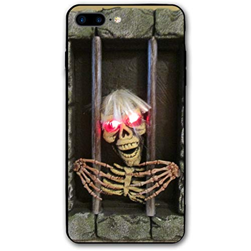 Jail Prison Jail Halloween Skull iPhone 8 Plus Case, iPhone 7 Plus Case, Ultra Thin Lightweight Cover Shell, Anti Scratch Durable, Shock Absorb Bumper Environmental Protection Case Cover]()