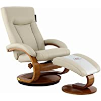 Mac Motion Chairs 54-97-103 Hamar Recliner in Beige Air Leather