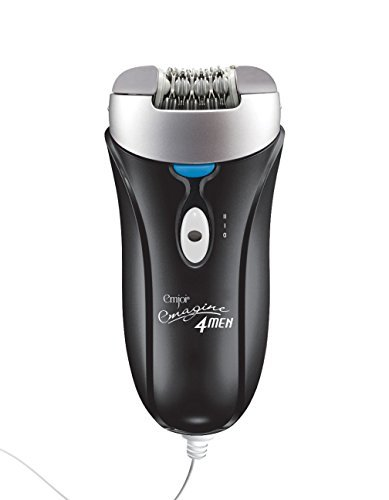 eMagine 4 Men The First Epilator on The Market For Men Features 72 Tweezers To Remove Unwanted Hair From The Root on The Back, Chest, Legs and Arms in The Privacy of The Home