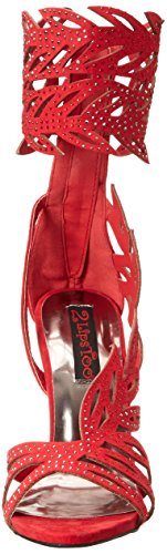 Glamor Women Too Sandal Red Gladiator 2 Too Lips ng866q