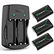#LightningDeal Smatree Rechargeable Battery Compatible with Xbox Series X S/Xbox One/Xbox One S/Xbox One X/Xbox One Elite Wireless Controller, 3 Pack Batteries with Charger