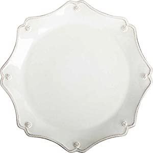 Berry & Thread Whitewash Scallop Charger