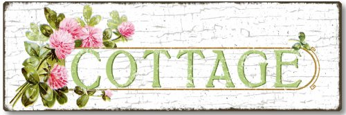 Item 435 Shabby Chic Cottage Sign - Shabby Pink Cottage