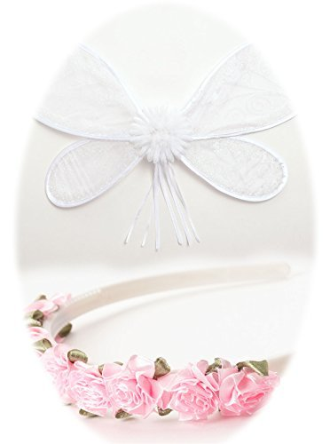 Little Adventures White Fairy Wing and Headband Set