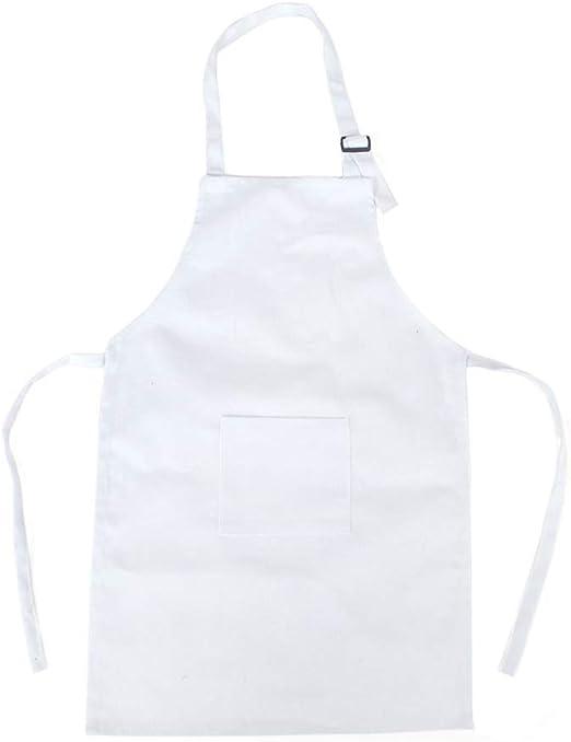 Doitsa - Delantal de cocina para niños, color blanco y algodón ...