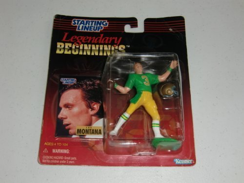 1998 Legendary Begginnings Starting Lineup - Joe Montana - University of Notre Dame