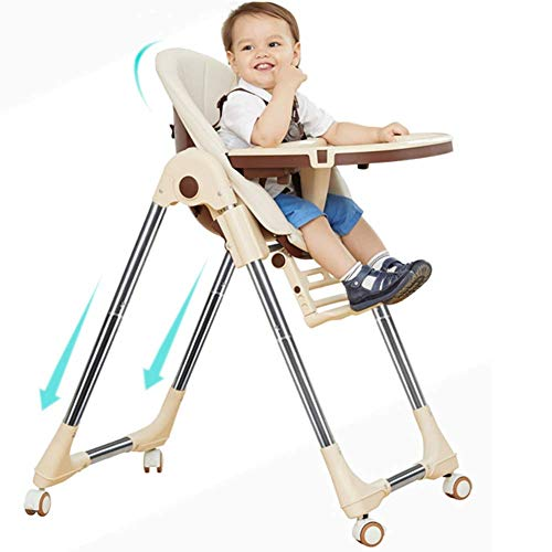 YRYRGXQ Baby Dining Chair Children Dining Chair Multifunctional Collapsible Portable Baby Chair Eating Dinette Seat
