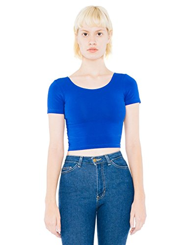 american-apparel-womens-short-sleeves-crew-neck-crop-top-blue-s