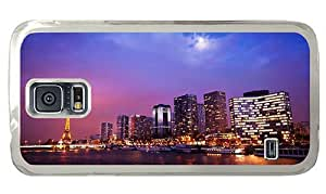 Hipster Samsung Galaxy S5 Case sell paris night PC Transparent for Samsung S5