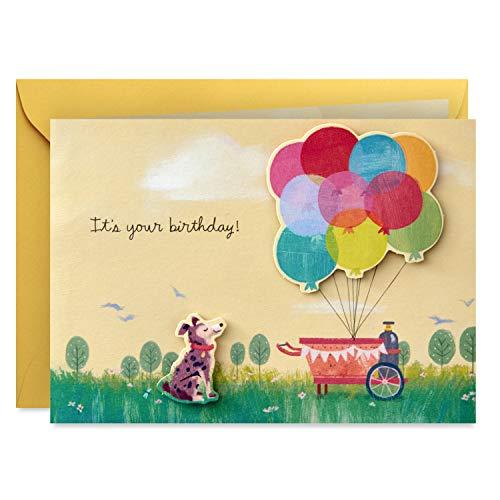 Hallmark Paper Wonder Pop Up Birthday Card (Get Carried - Card Dog Birthday