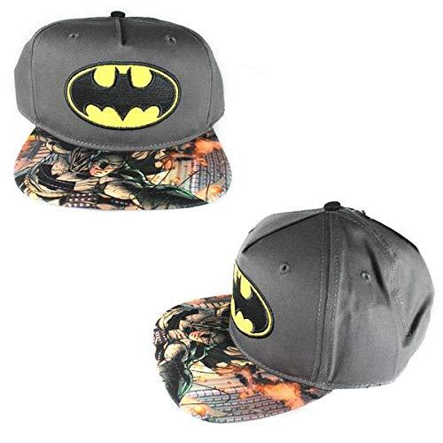 DC Comics The Joker Hahaha Batman Logo Sublimated Bill Snapback (Youth, Youth - Gray)]()