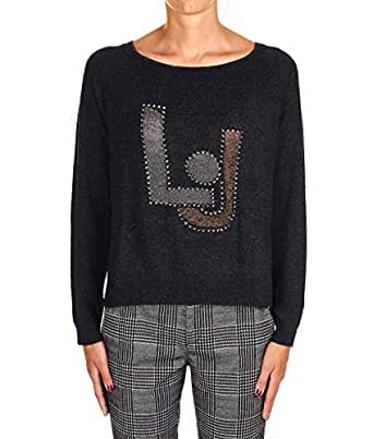 Liu Jo Luxury Fashion Womens M69099MA14G02073 Grey Sweater | Fall Winter 19