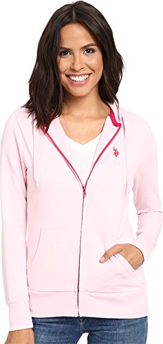 U.S. Polo Assn. Juniors Easy French Terry Hoodie, Pink Lady, (Pink Terry Hoodie)
