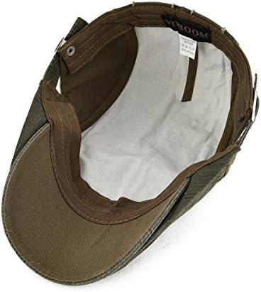 100 %コットンダメージ加工アイビーキャップNewsboyキャップCabbie帽子ギャツビー帽子