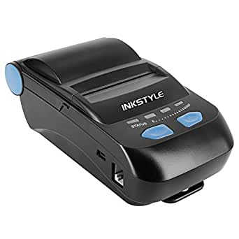 Portable Bluetooth Thermal Receipt Printer, INKSTYLE 58MM Mini Small Wireless Thermal Printer Compatible with Android, iOS, Windows, Linux Systems and ...