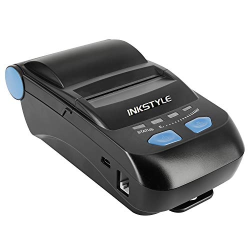 Bluetooth Thermal Receipt Printer, INKSTYLE 58MM Mini Portable Wireless Thermal Printer [Bluetooth + USB 2.0 Wired] with High-Speed Printing, Compatible with ESC/POS Print Commands Set, Easy to Setup