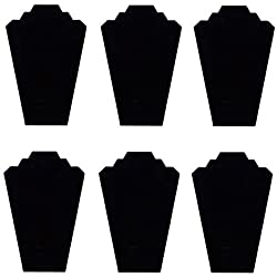 TWING Black Velvet Nacklace Jewelry Display Organizer Stand 6pcs/pack, 12.5inches