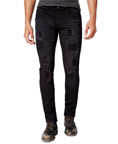 Ring of Fire Men's Slim-Fit Winston Wash Destructed (Fire Stretch Jeans)