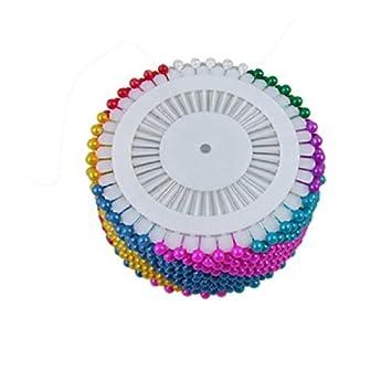 eDealMax Color clasificado perlas de imitación de cabeza pernos de Pelo Broche de la decoración