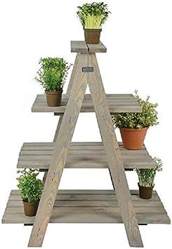 Generic - Escalera para Maceta (Madera, Plegable, diseño rústico), diseño rústico, Color Gris: Amazon.es: Electrónica