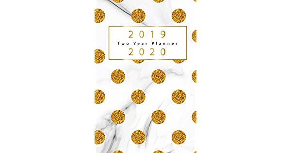 Amazon.com: 2019-2020 Two Year Planner: Gold Dots Cover, 2 ...
