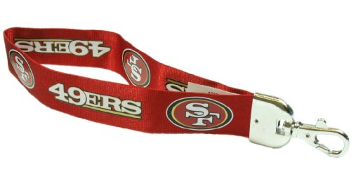NFL San Francisco 49Ers Wristlet Lanyard, Red, One Size