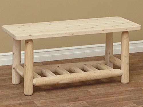 White Cedar Classic Adirondack Coffee Table *Unfinished* ()