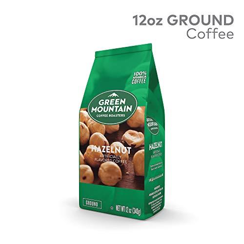 Green Mountain Coffee Hazelnut, Ground Flavored Coffee, Light Roast, Bagged 12oz.