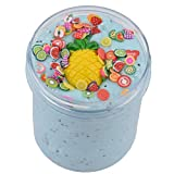 Trigle 120ML Fluffy Cloud Pineapple Slime Scented Stress Relief Sludge Toy Kids Adults Soft Non-Sticky (Blue)