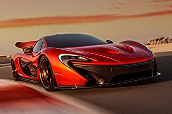 Lawrence Painting Mclaren P1 Mp4 12C Super Car Poster Boys Room Decor Inch  Luxury Dream Cool