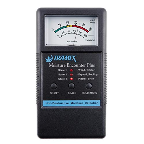 MEP Tramex Non Destructive Encounter Plus Moisture Meter, Measuring Range: 5% to 30% for wood and 0 to 100 Comparative for Other Materials from Tramex