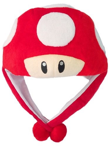 Super Mario Red Mushroom Aviator (Child Red Mushroom Hat)