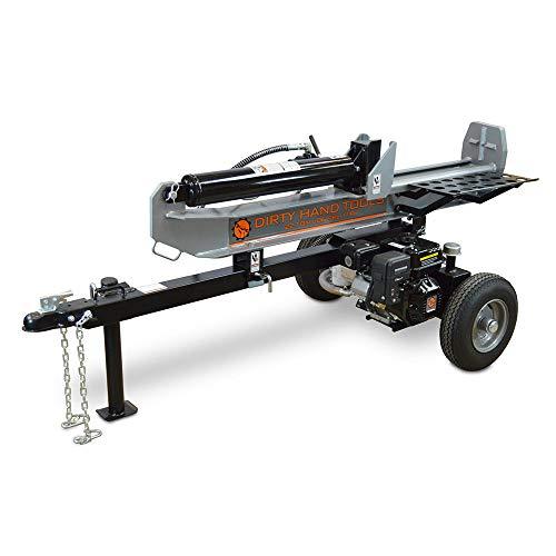 Horizontal Log Splitter - Frictionless World Dirty Hand Tools 100950 Horizontal/Vertical Log Splitter 22 Ton Full-Beam Loncin Engine