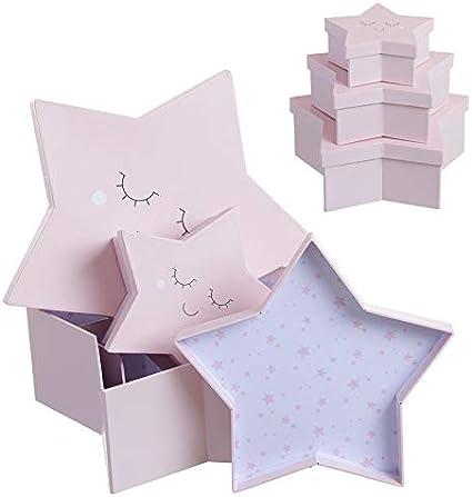 Home Gadgets Caja Carton Juego 3 Unidades Estrella: Amazon.es: Hogar