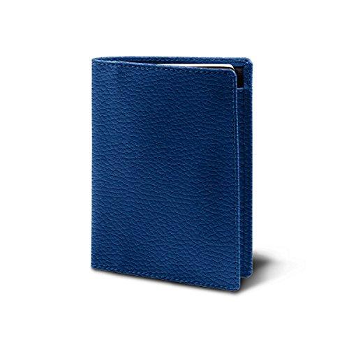 Lucrin Reisepass und Treue Kartenhalter - Leder genarbt Azurblau