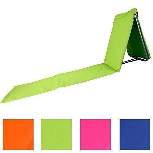 🥇 plegable playa con resto y Bolso en 4 veraniegos colores modelo «Relax» incl. Nuestra POPULAR Saco Lavandería – Green