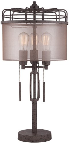 Lock Arbor Industrial Cage Metal Table Lamp by Franklin Iron Works